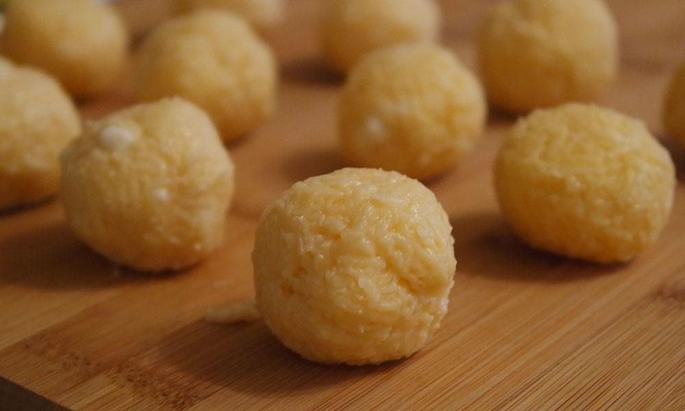 Сырные шарики без яиц рецепт с пошагово